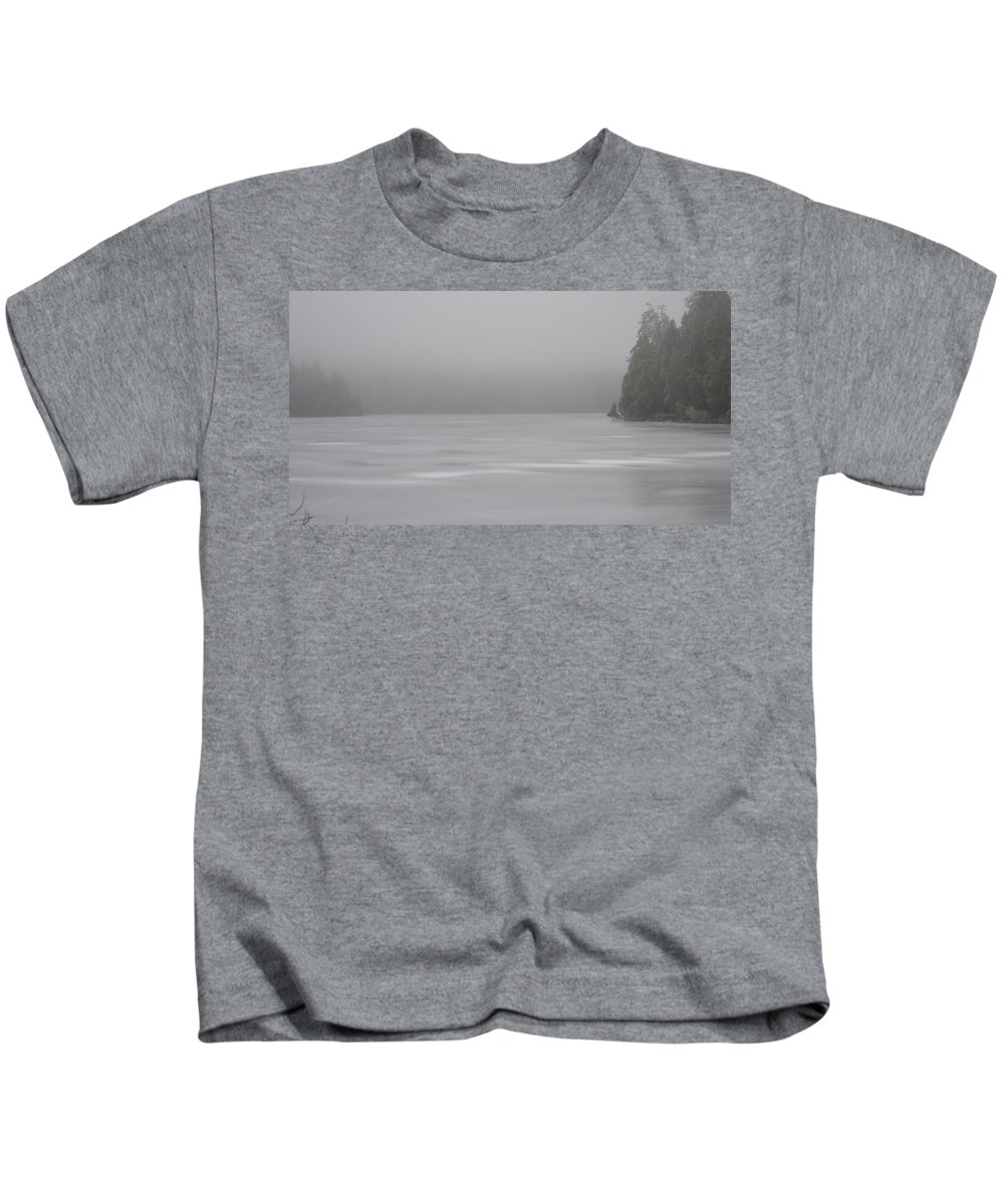 Ice Storm Kids T-Shirt featuring the photograph In The Clouds by Thomas Phillips