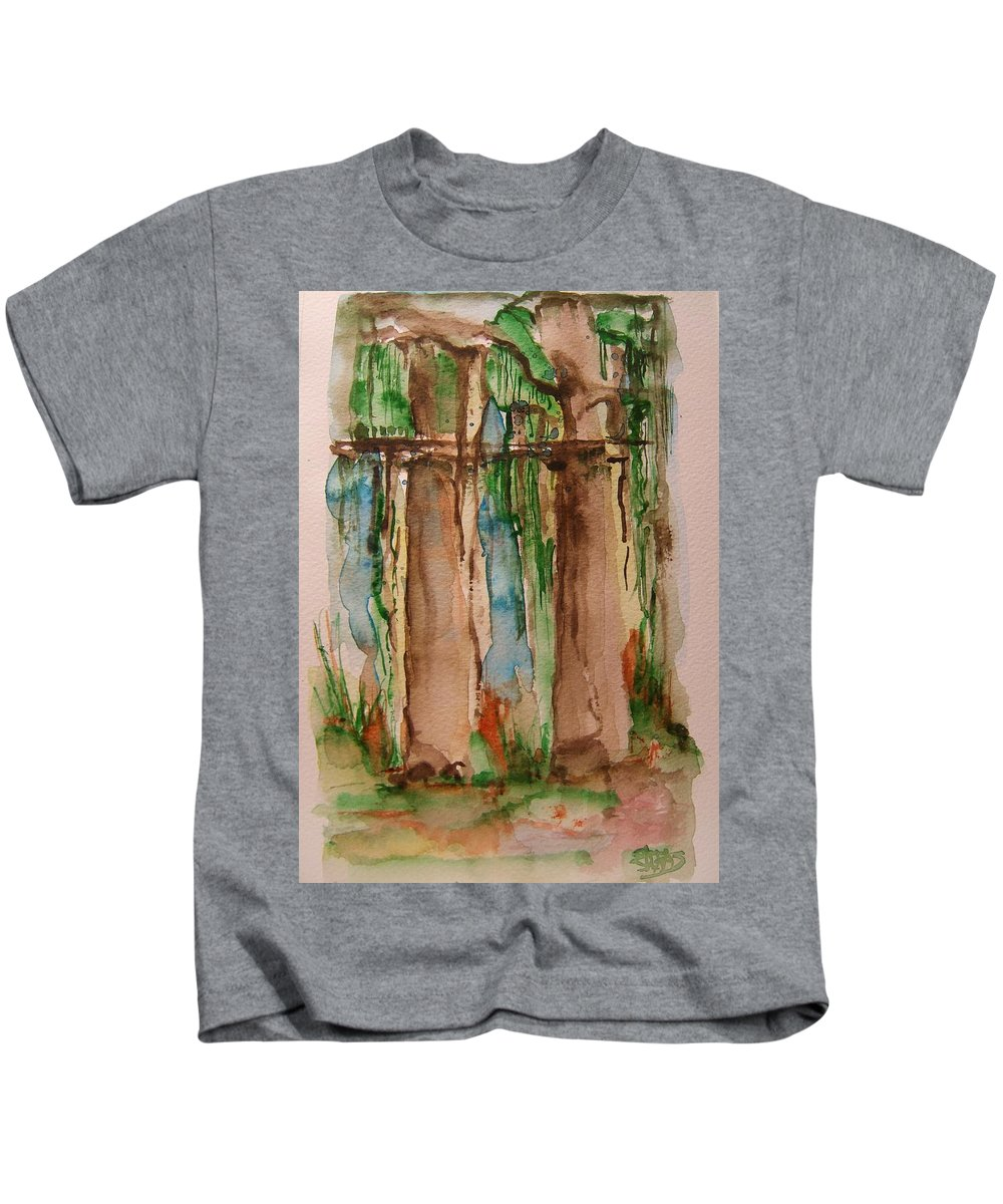 Rainforest Kids T-Shirt featuring the painting In The Rainforest by Elaine Duras