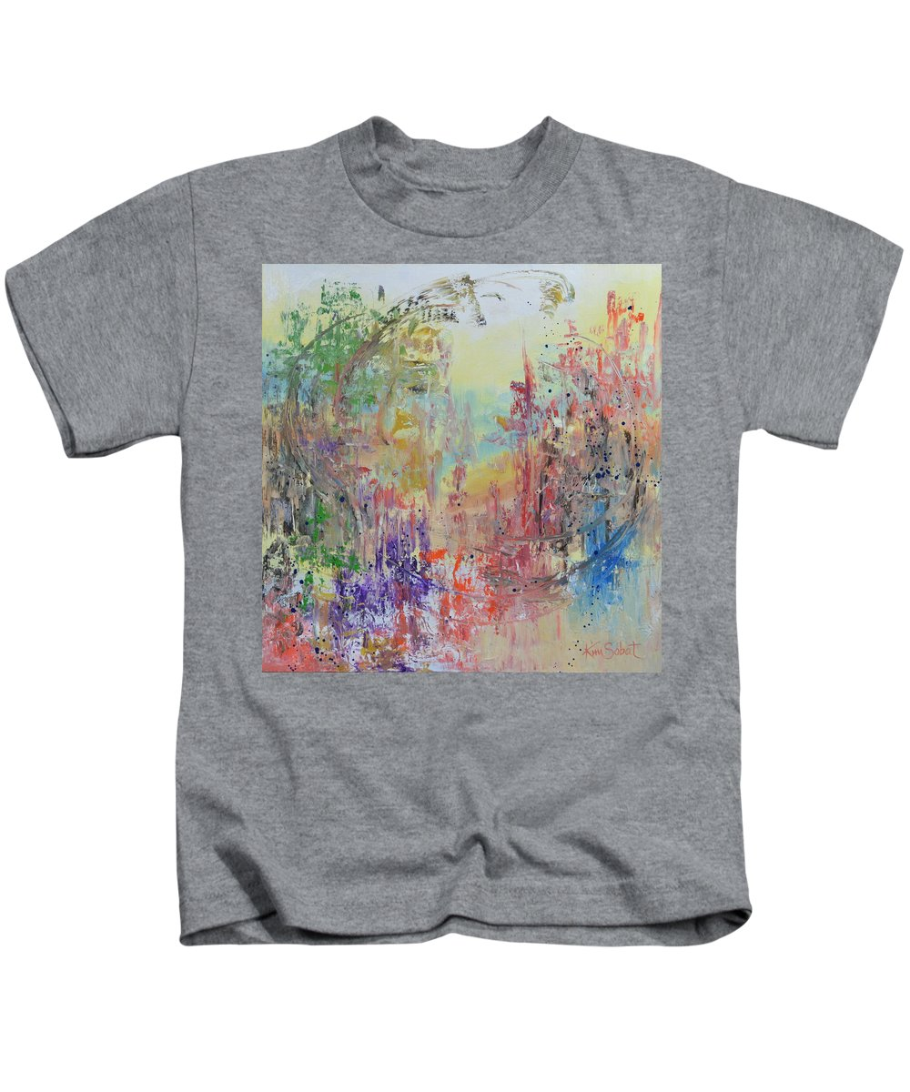 Abstract Kids T-Shirt featuring the painting In Your Wildest Dreams by Kim Sobat