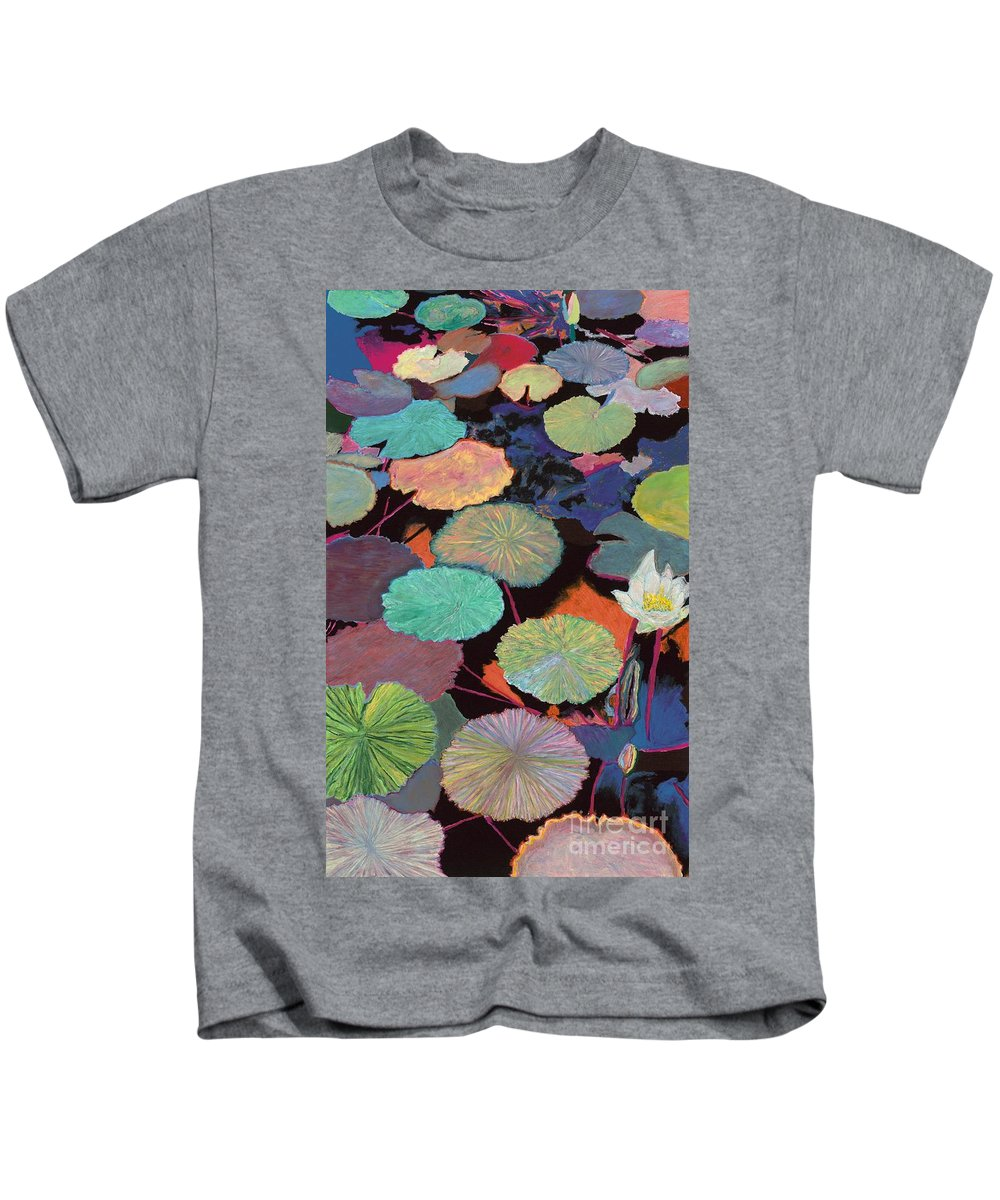 Landscape Kids T-Shirt featuring the painting Ina Magic by Allan P Friedlander