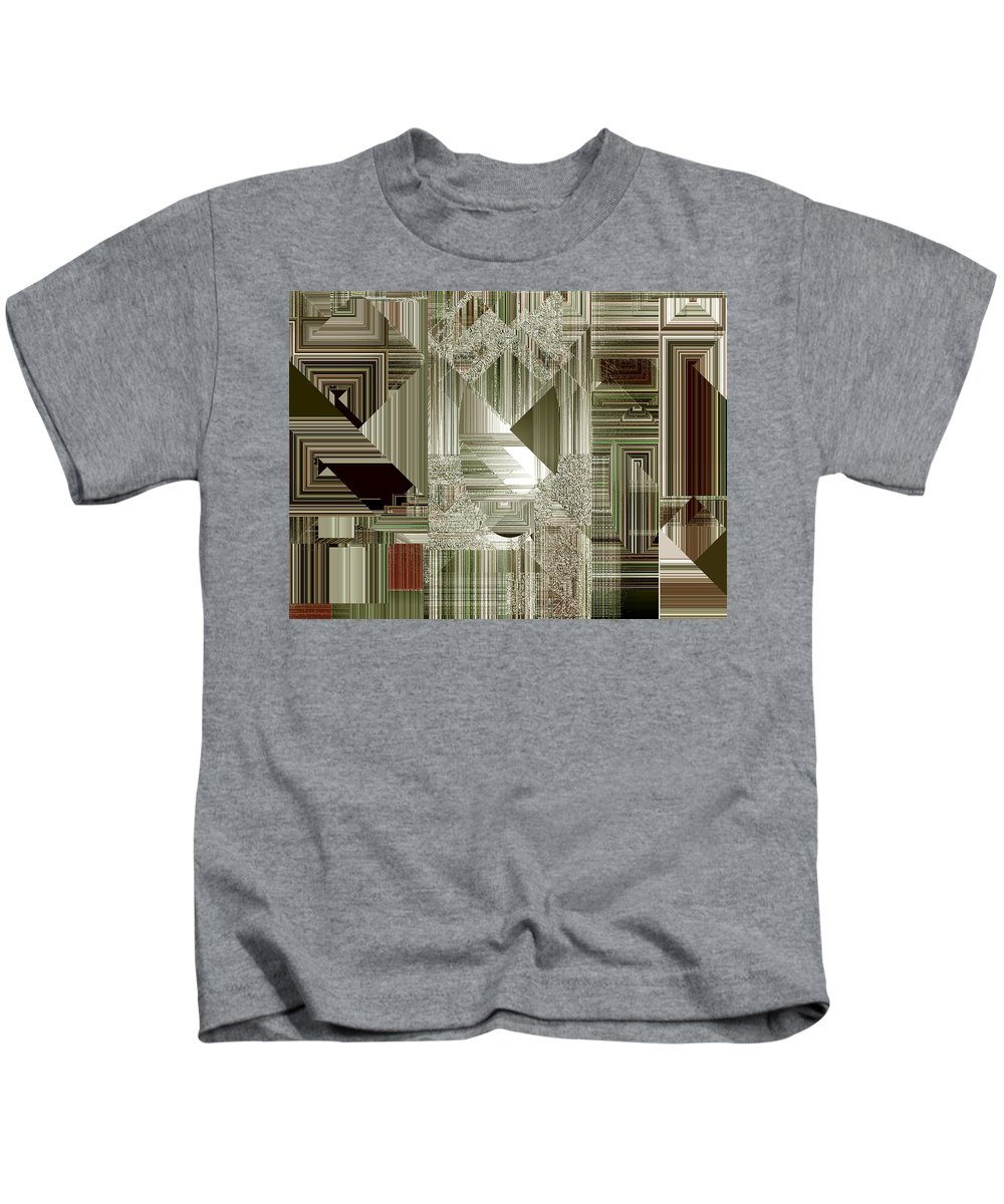 Abstract Kids T-Shirt featuring the painting Indecision I by RC deWinter