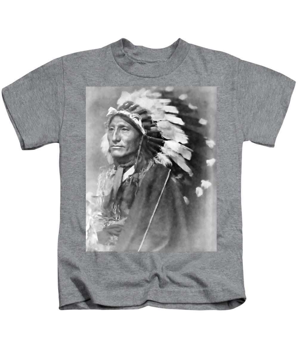 Indian Kids T-Shirt featuring the photograph Indian Chief - 1902 by Daniel Hagerman