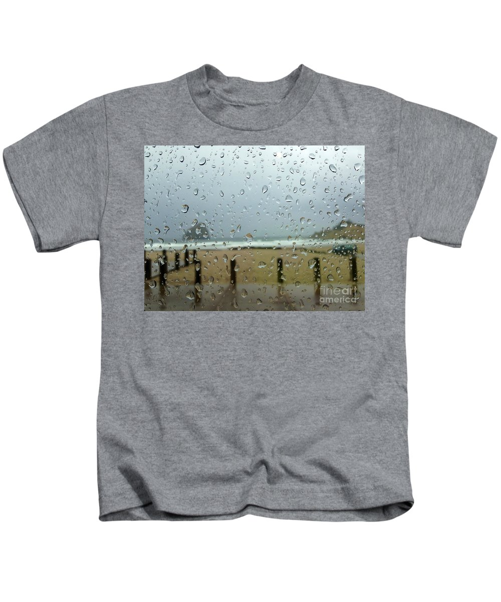 Rainy Day At The Beach Kids T-Shirt featuring the photograph Inside Warmth by Susan Garren