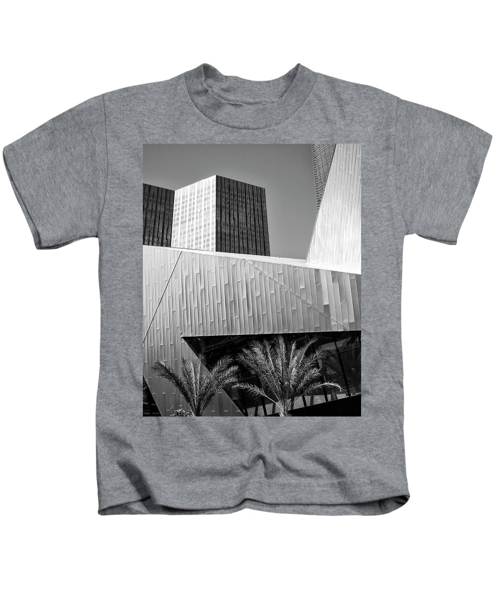 Vegas Kids T-Shirt featuring the photograph Intersection 2 Bw Las Vegas by William Dey
