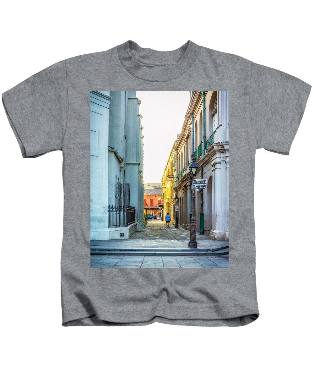French Quarter Kids T-Shirt featuring the photograph Into The Light 2 by Steve Harrington