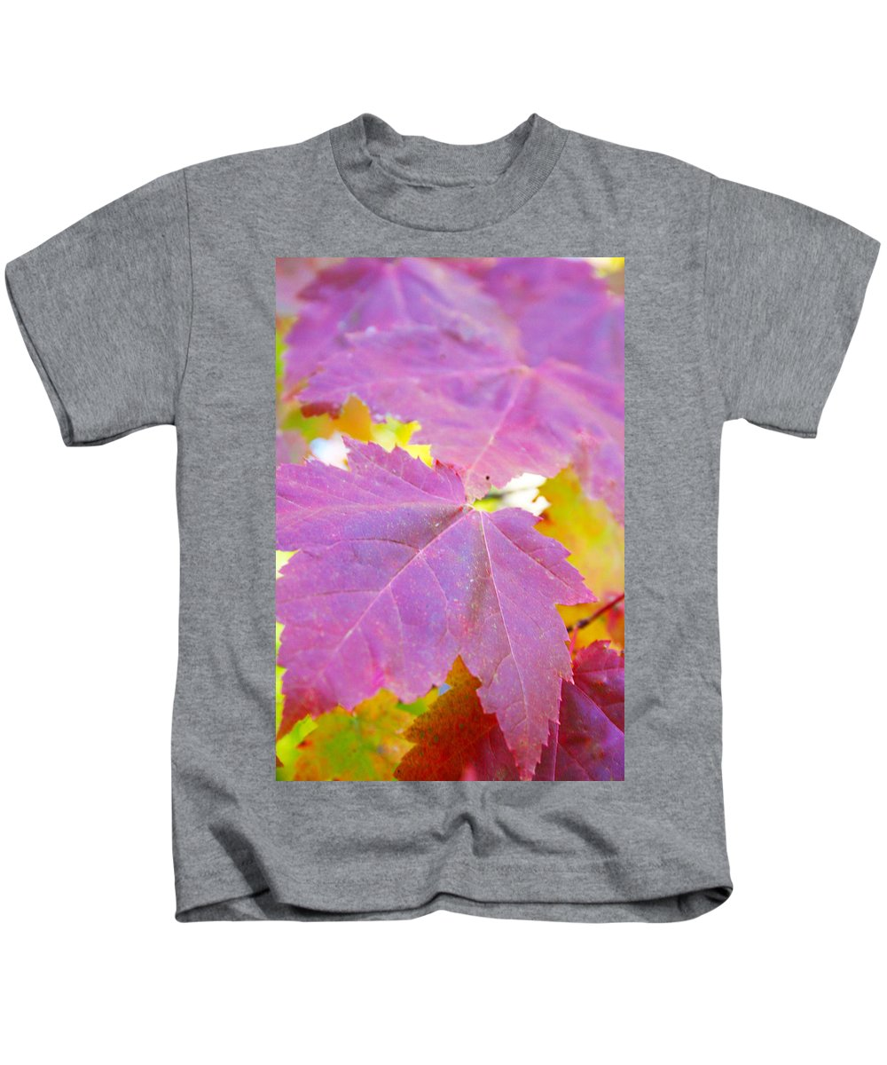 Leaves Kids T-Shirt featuring the photograph It's Fall by Tiffany Erdman