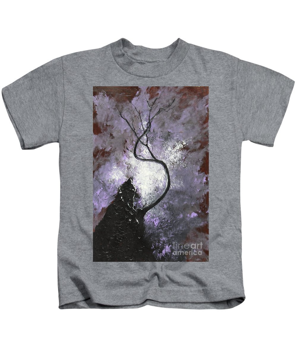 Landscape Kids T-Shirt featuring the painting I've Survived by Stefan Duncan