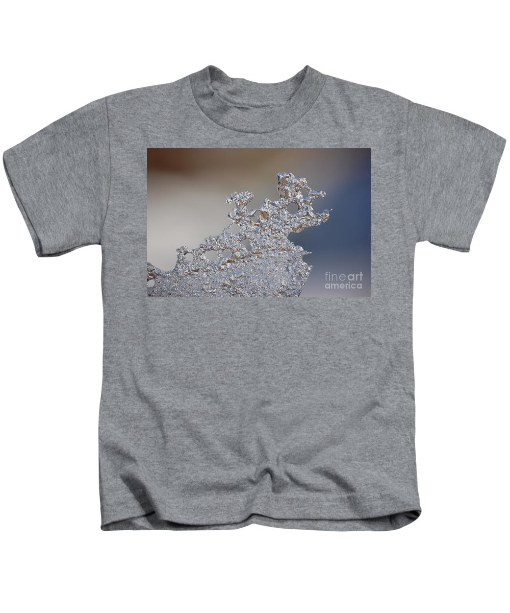 Fractal Ice Kids T-Shirt featuring the photograph Jammer Fractal Ice 001 by First Star Art