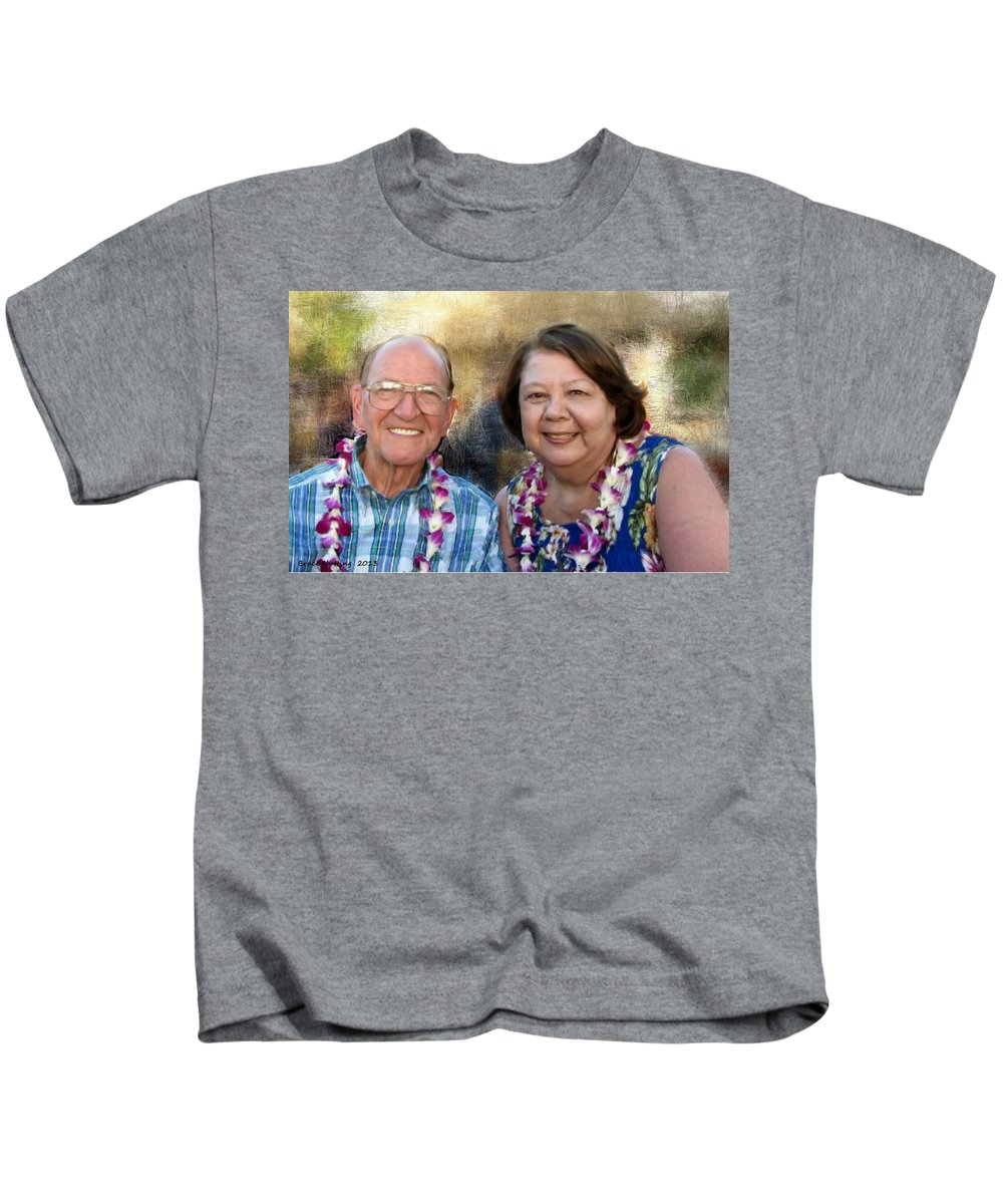 Jerry Kids T-Shirt featuring the painting Jerry And Lorene by Bruce Nutting