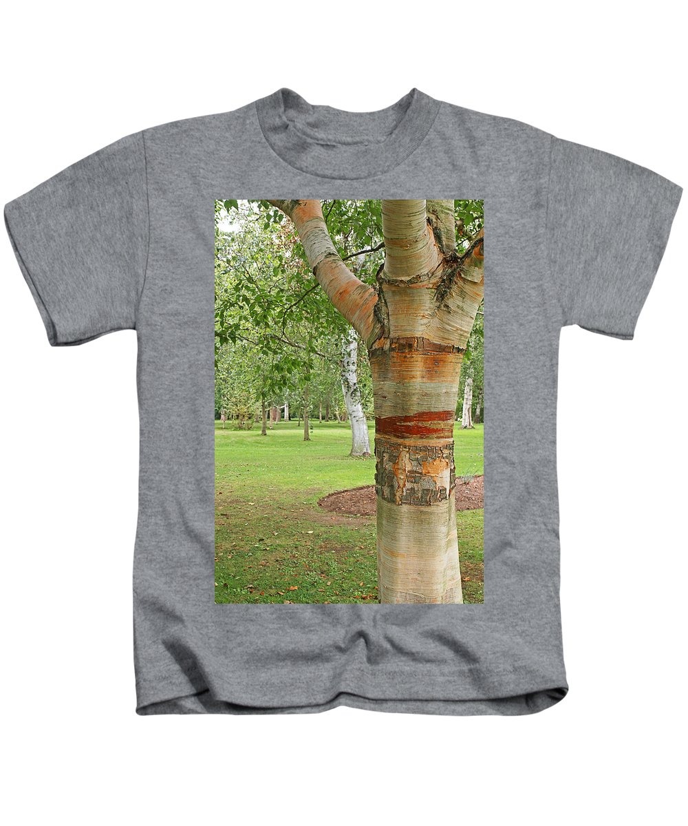 Peeling Bark Kids T-Shirt featuring the photograph Jewel In The Woods by Gill Billington