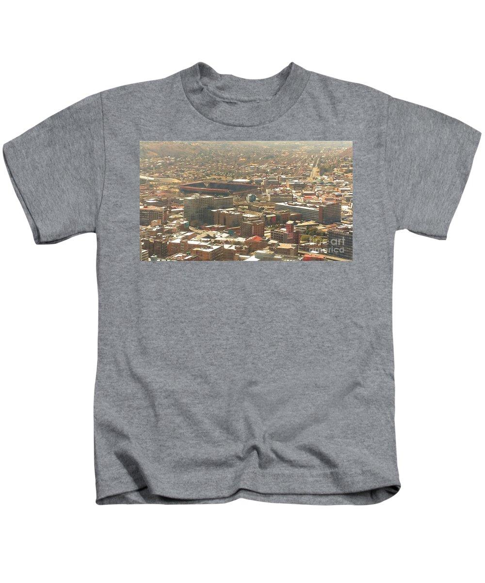 Johannesburg Kids T-Shirt featuring the photograph Johannesburg Stadium by Lisa Byrne