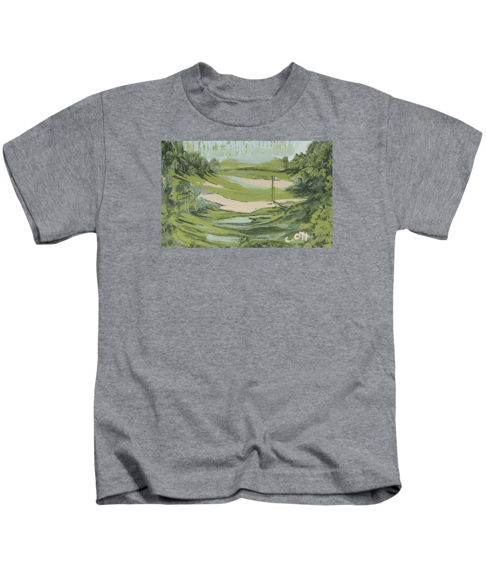Golf Kids T-Shirt featuring the painting Just Go by Calvin Ott
