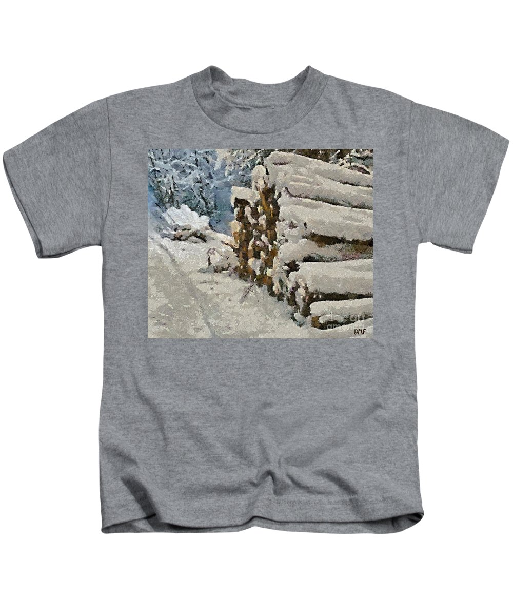 Firewood Kids T-Shirt featuring the painting Just In Case by Dragica Micki Fortuna