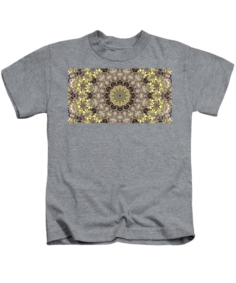 Kaleidoscope Kids T-Shirt featuring the digital art Kaleidoscope 50 by Ron Bissett
