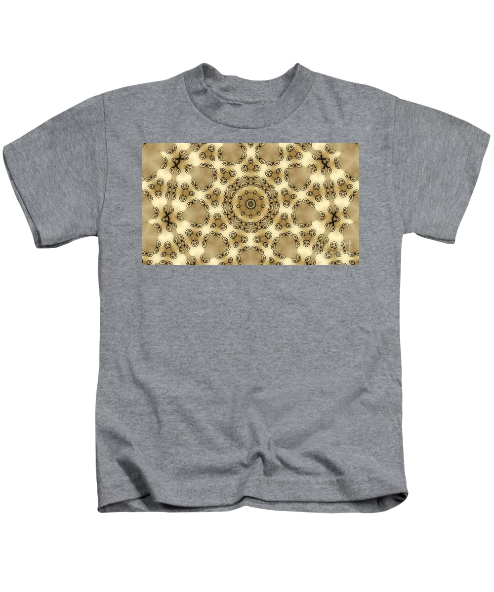Kaleidoscope Kids T-Shirt featuring the digital art Kaleidoscope 55 by Ron Bissett
