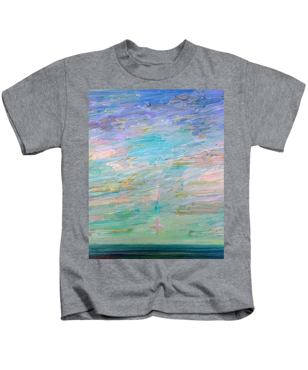 Sea Kids T-Shirt featuring the painting Kamikaze by Fabrizio Cassetta