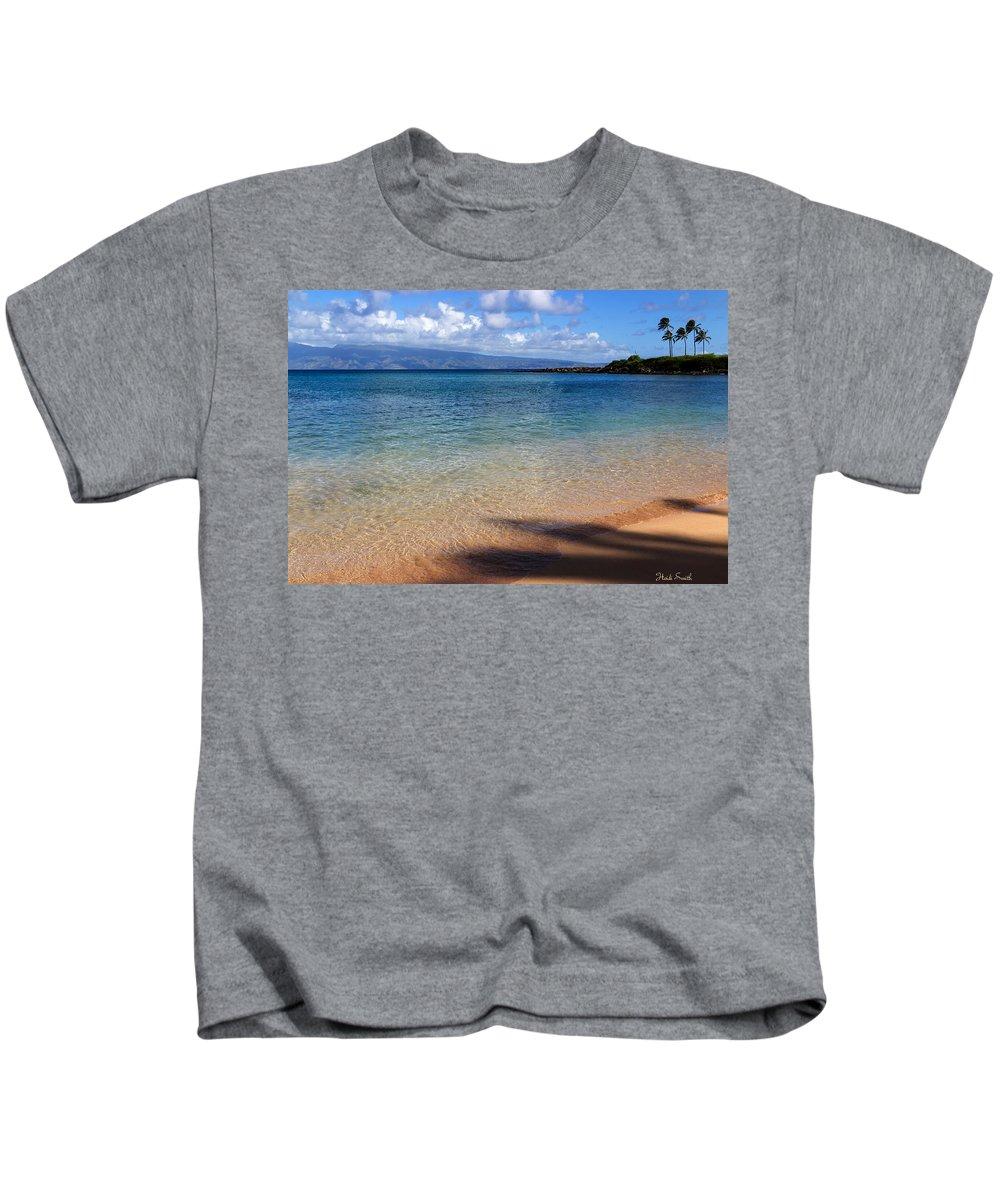 Beach Kids T-Shirt featuring the photograph Kapalua Bay Maui by Heidi Smith