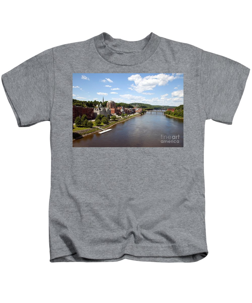 Kennebec River Kids T-Shirt featuring the photograph Kennebec River by Bill Cobb