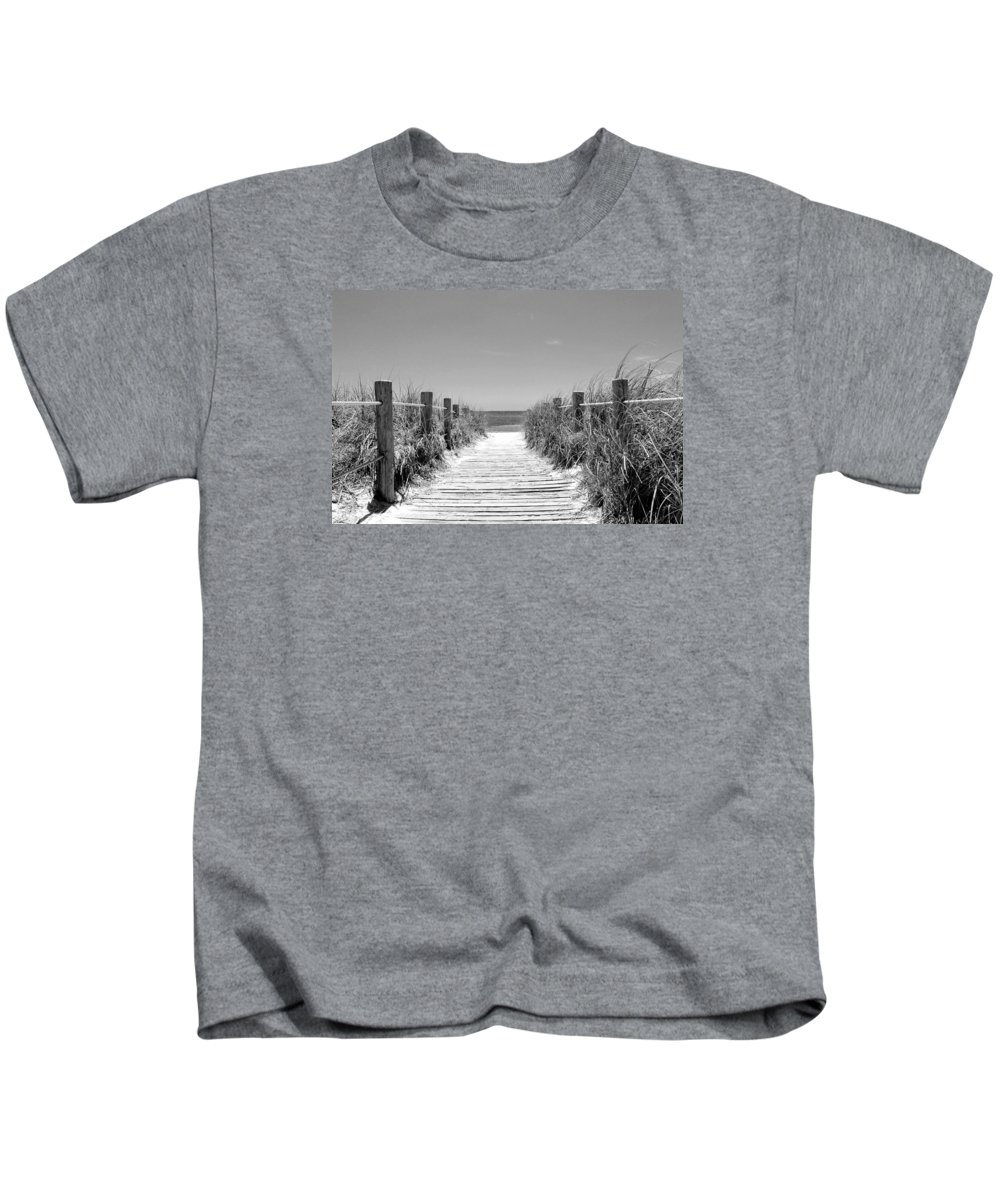 Beach Kids T-Shirt featuring the photograph Beyond The Beach Gates by Iryna Goodall