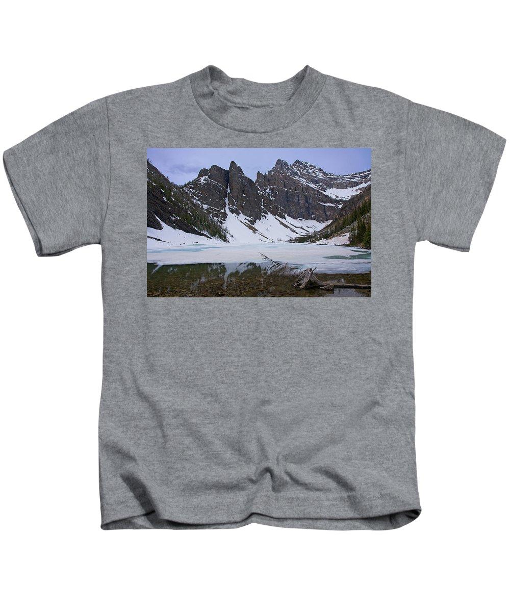 Lake Agnes Kids T-Shirt featuring the photograph Lake Agnes #2 by Stuart Litoff