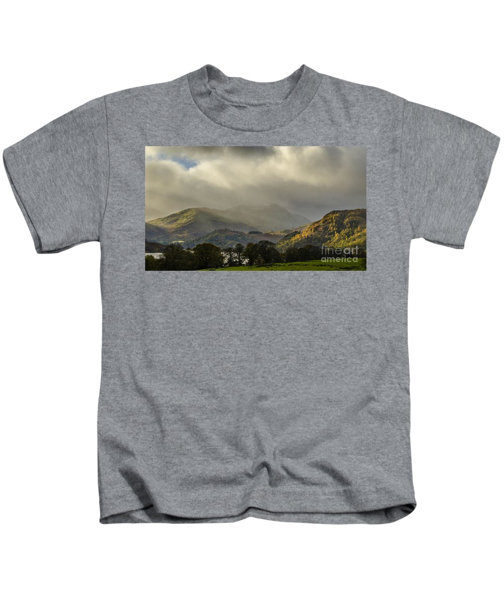 Landscape Kids T-Shirt featuring the photograph Lakeland by Linsey Williams