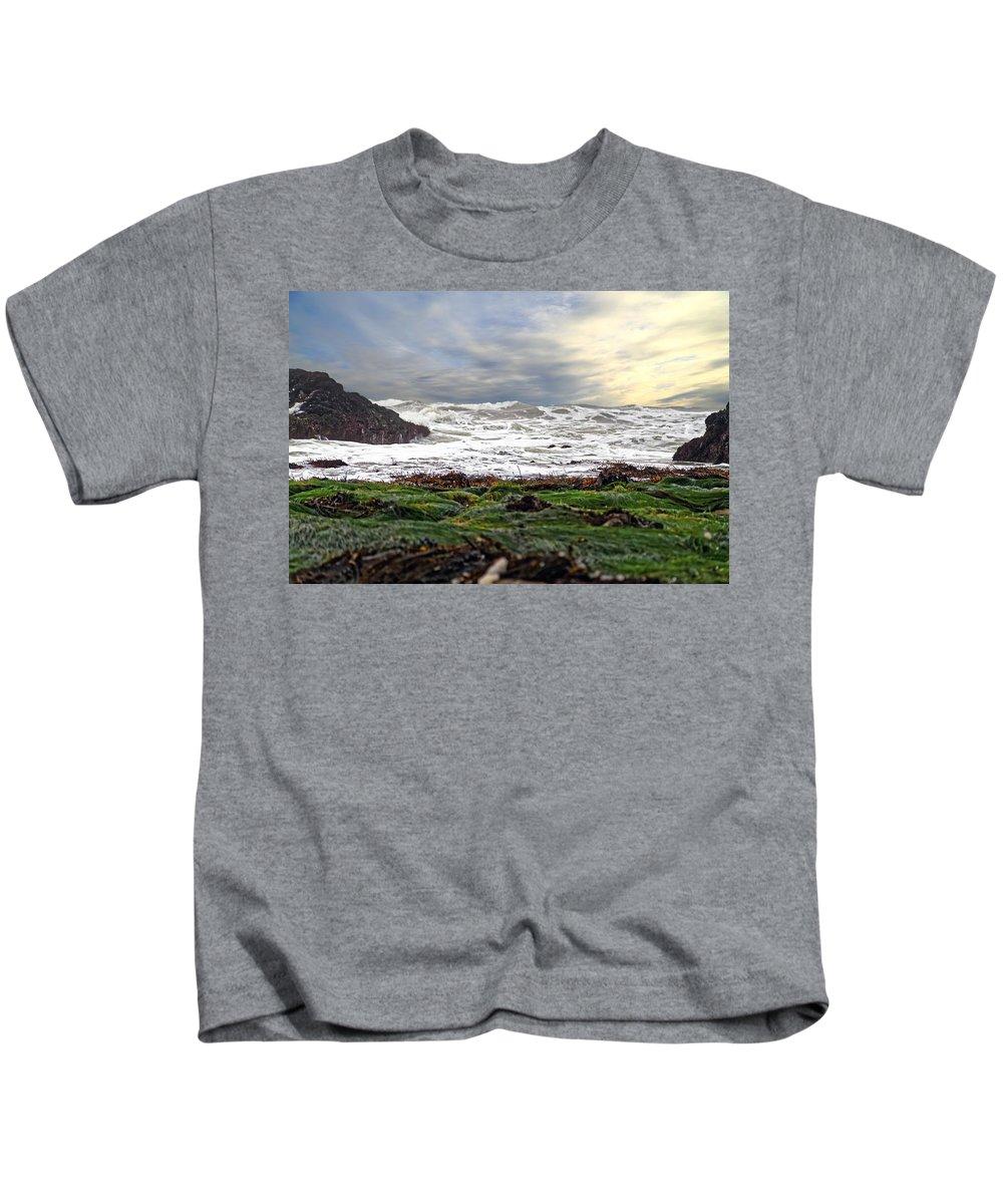 Lands End Kids T-Shirt featuring the photograph Lands End by Scott Hill