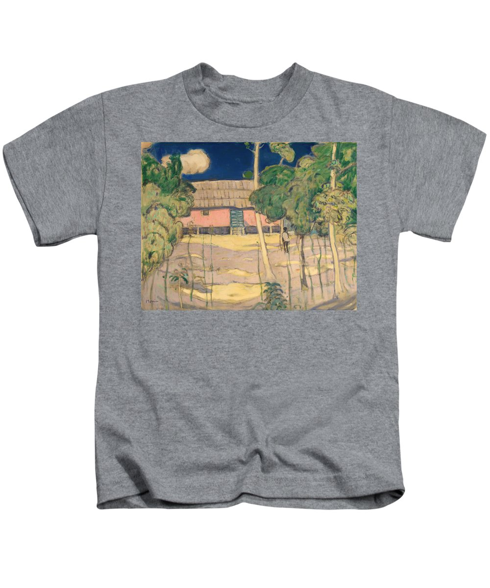 Painting Kids T-Shirt featuring the painting Landscape Trinidad by Mountain Dreams
