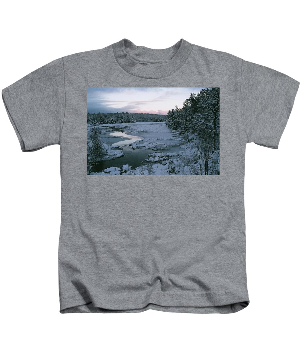 Landscape Kids T-Shirt featuring the photograph Late Afternoon In Winter by David Porteus