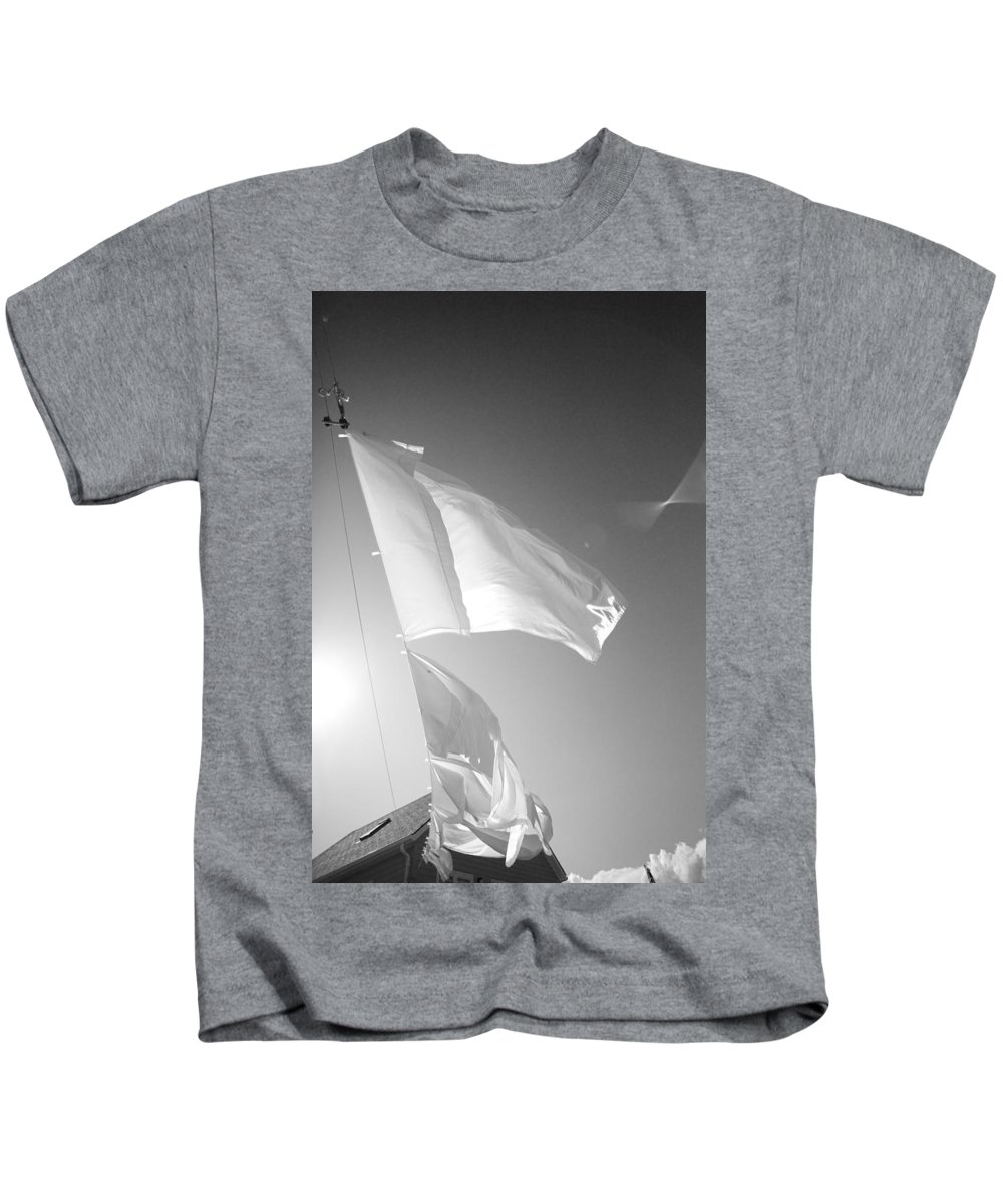 Line Drying Kids T-Shirt featuring the photograph Laundry 3 by Allan Morrison