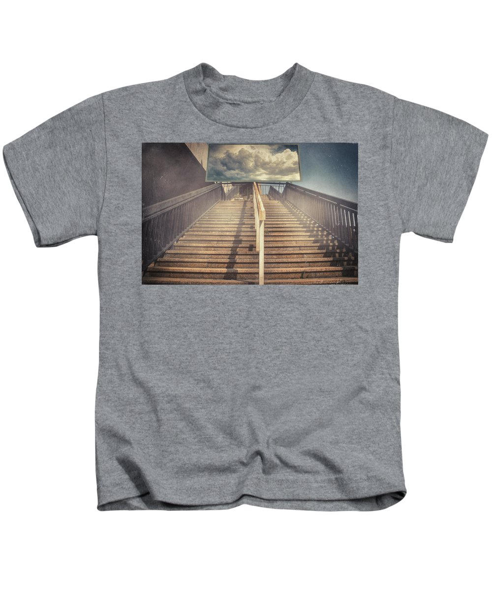 Surreal Kids T-Shirt featuring the photograph Lestnitsa by Zapista