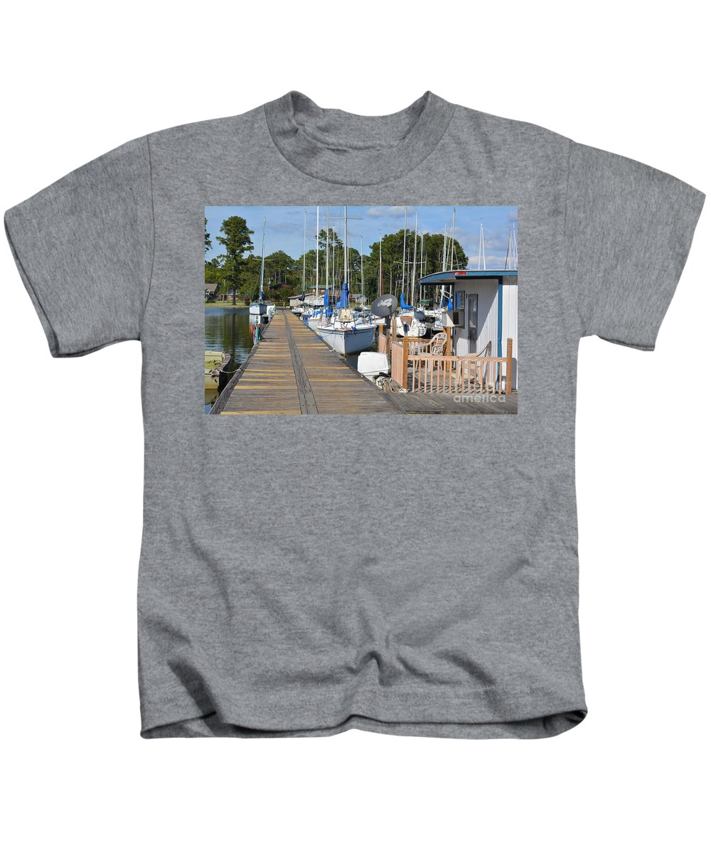 Wall Decor Kids T-Shirt featuring the photograph Let's Go Sailing by Barb Dalton