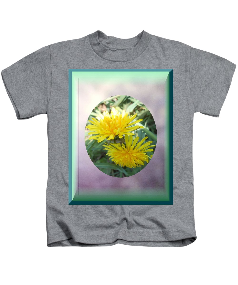Springtime Kids T-Shirt featuring the mixed media Life Is Made Up Of Dandelions by Patricia Keller