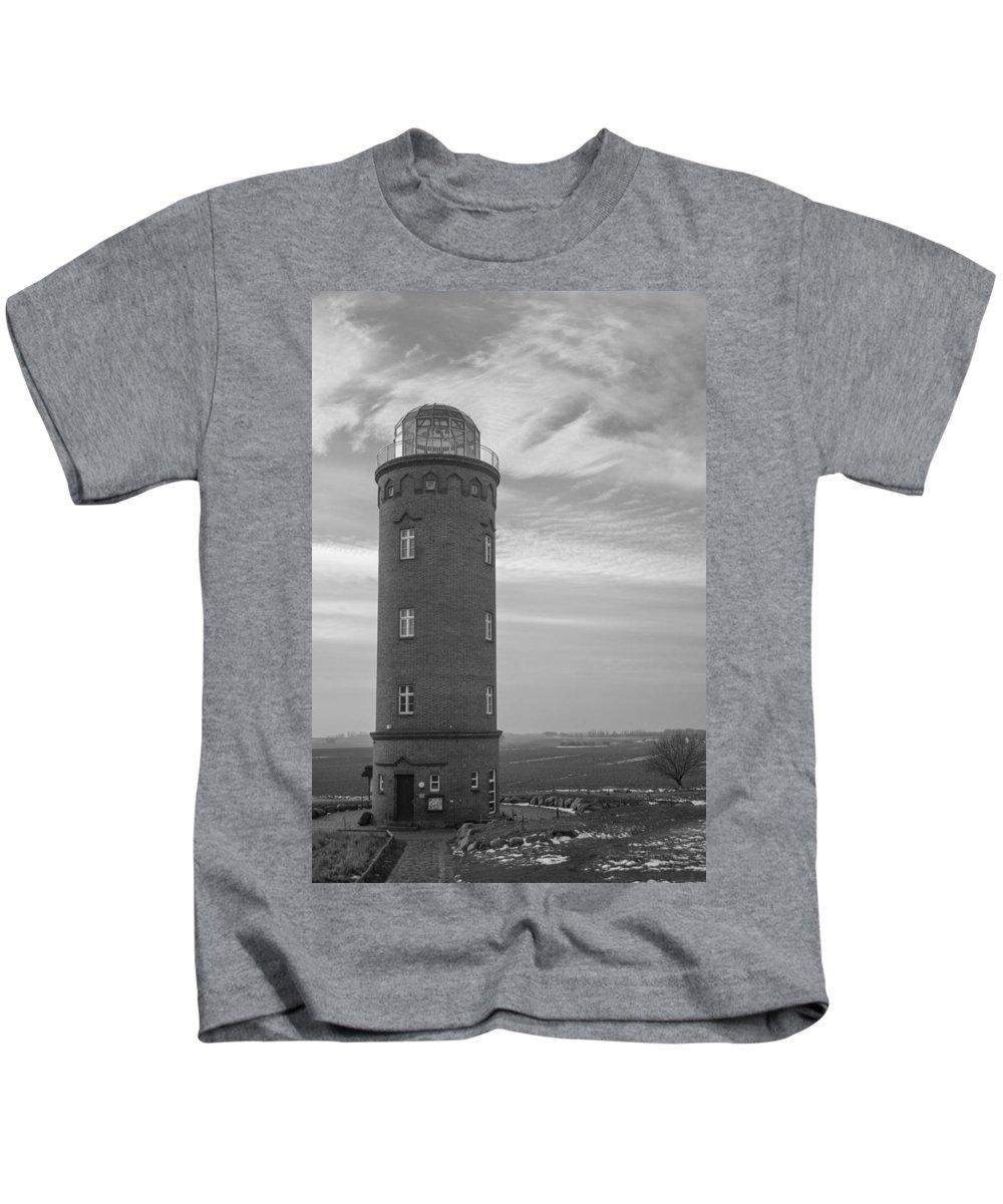 Island Of Ruegen Kids T-Shirt featuring the photograph Light House by Ralf Kaiser