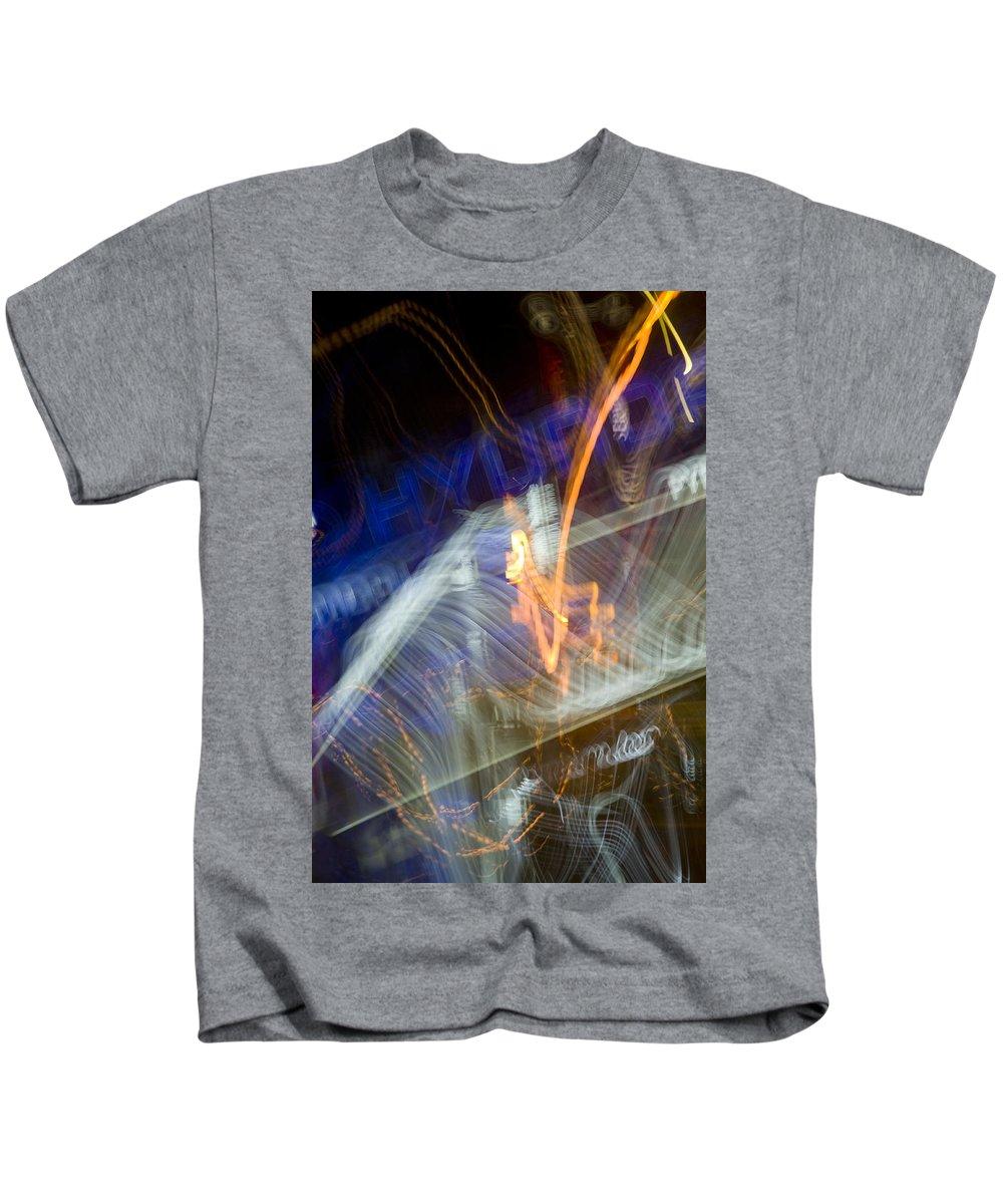 Lights Kids T-Shirt featuring the photograph lights 'V by Milan Gonda