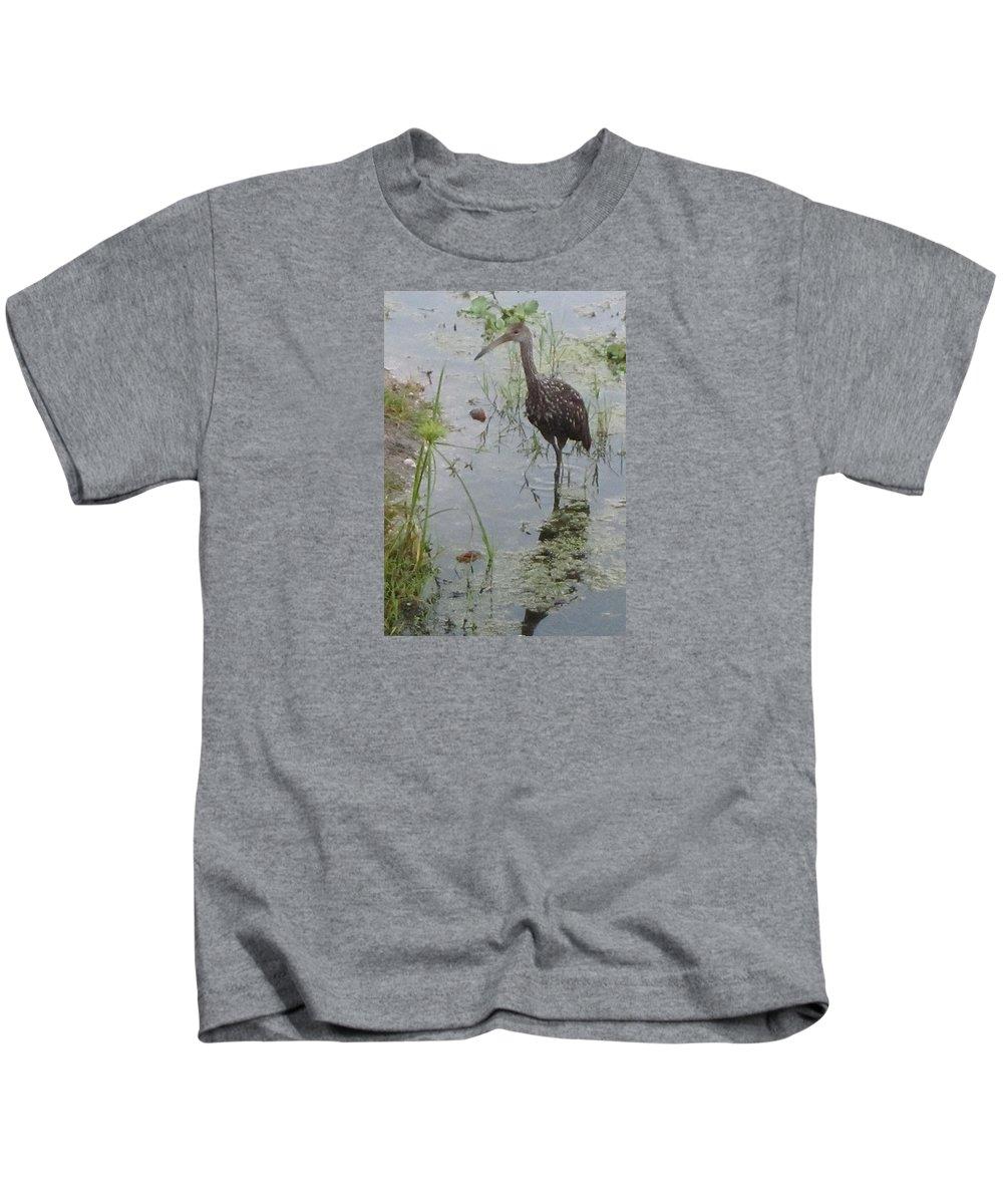 Limpkin Kids T-Shirt featuring the photograph Limpkin by Janet K Wilcox