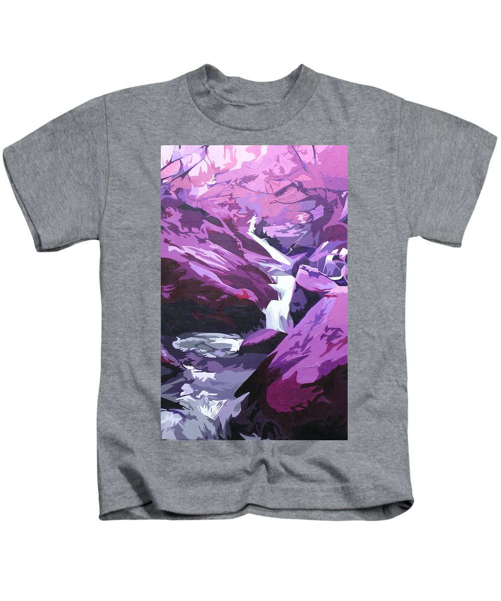 Creek Kids T-Shirt featuring the painting Limpy Creek by Joshua Morton