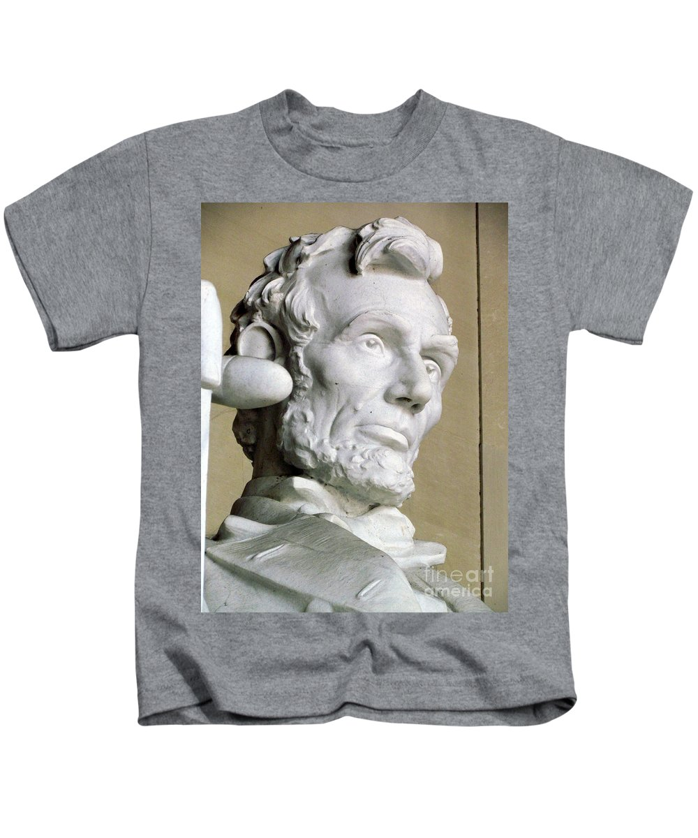 Abraham Lincoln Kids T-Shirt featuring the photograph Lincoln by Elizabeth Dow