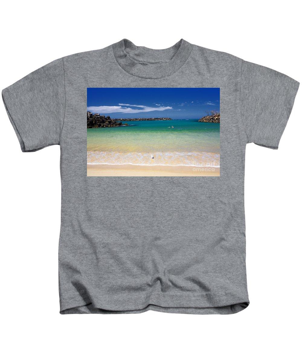 Little Beach Kids T-Shirt featuring the photograph Little Beach by Sheila Smart Fine Art Photography