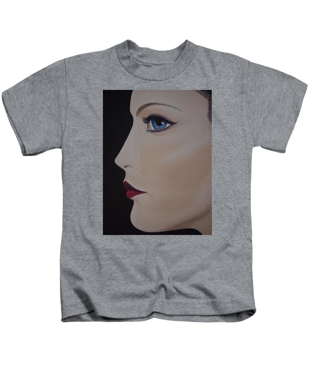 Actress Kids T-Shirt featuring the painting Liv Tyler by Dean Stephens
