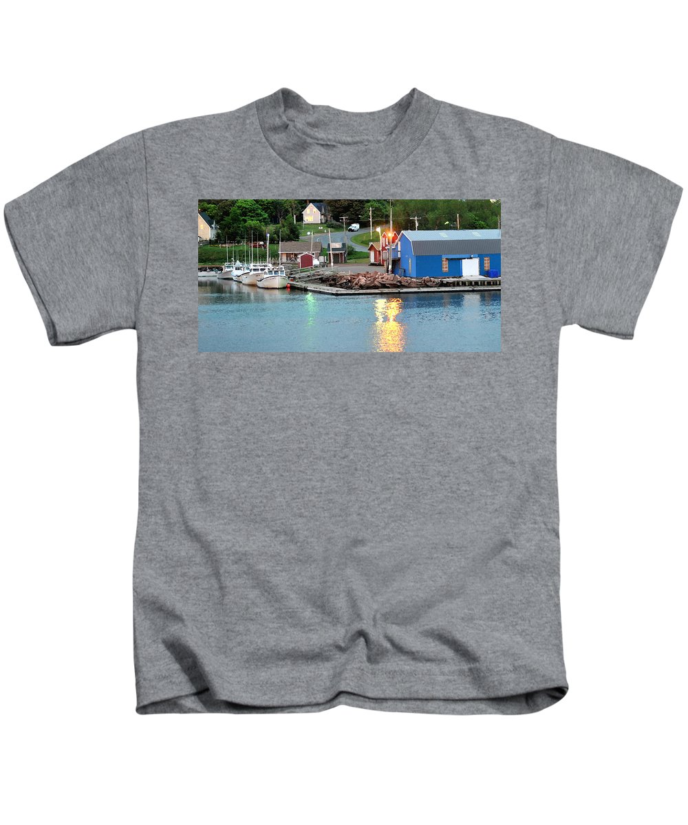 Lobster Fishing Kids T-Shirt featuring the photograph Lobster Fishing Days End by Steve Archbold