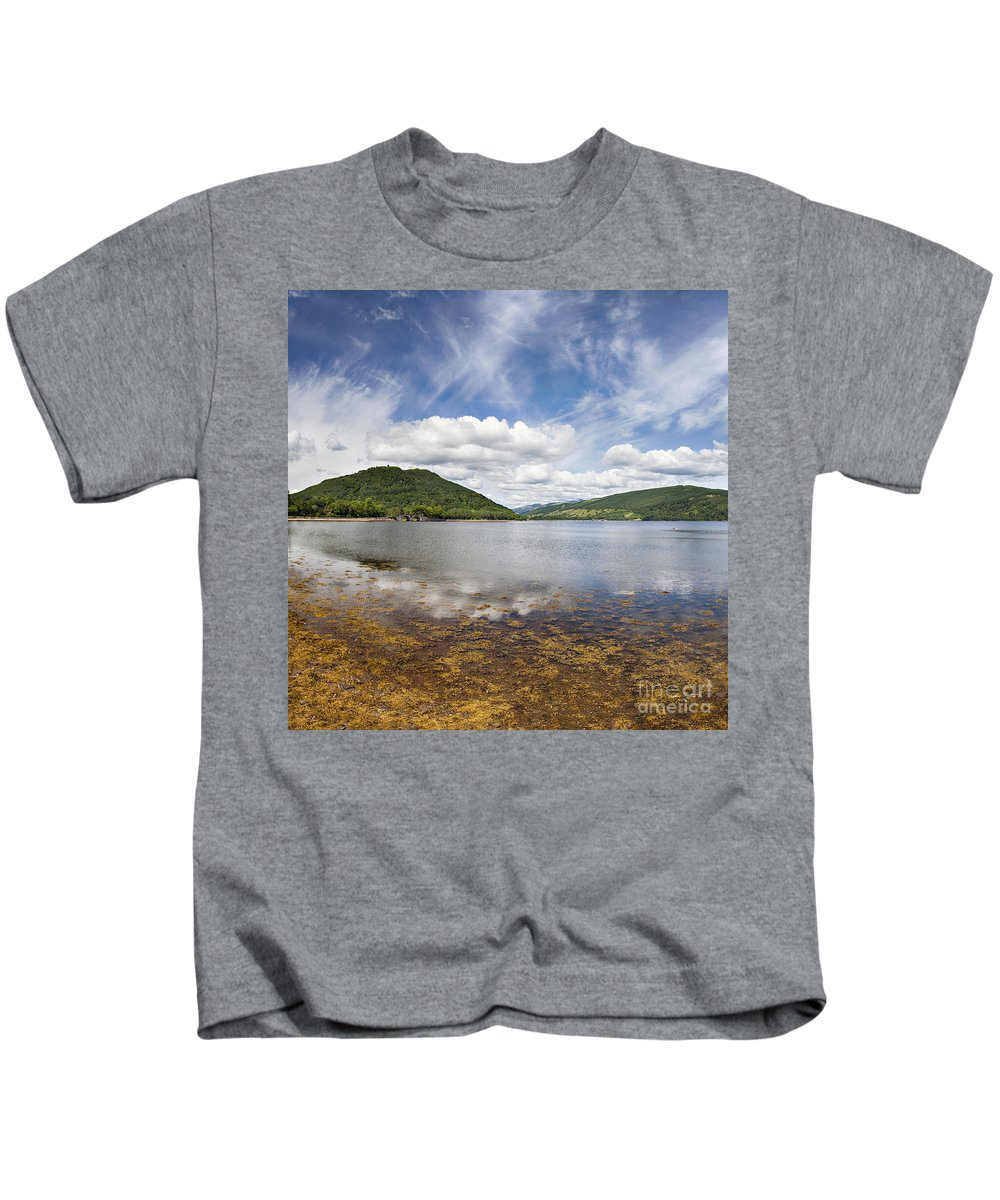 Reflection Kids T-Shirt featuring the photograph Loch Fine By Inveraray by Sophie McAulay
