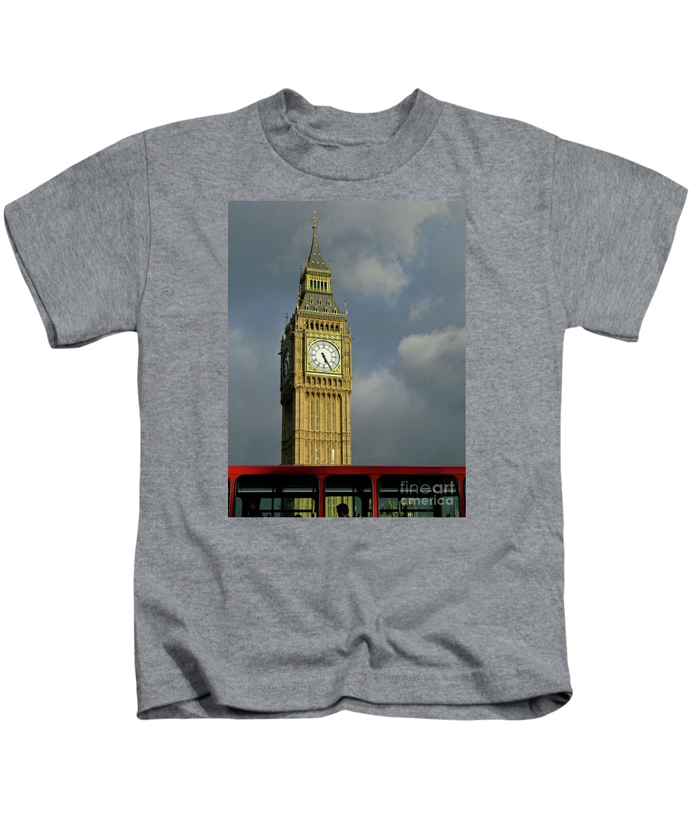 London Icons By Ann Horn Kids T-Shirt featuring the photograph London Icons by Ann Horn
