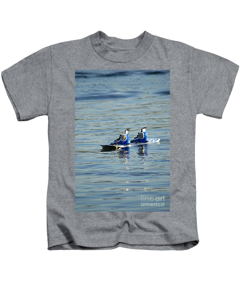 Wakeboard Kids T-Shirt featuring the photograph Lone Wakeboard by DejaVu Designs