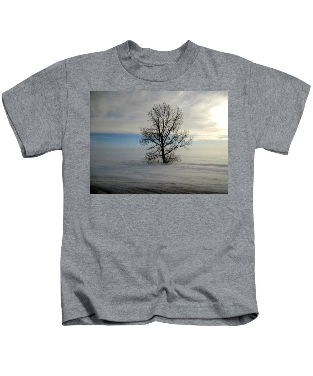 Landscape Kids T-Shirt featuring the photograph Lonely Prairie by Stephanie Bland