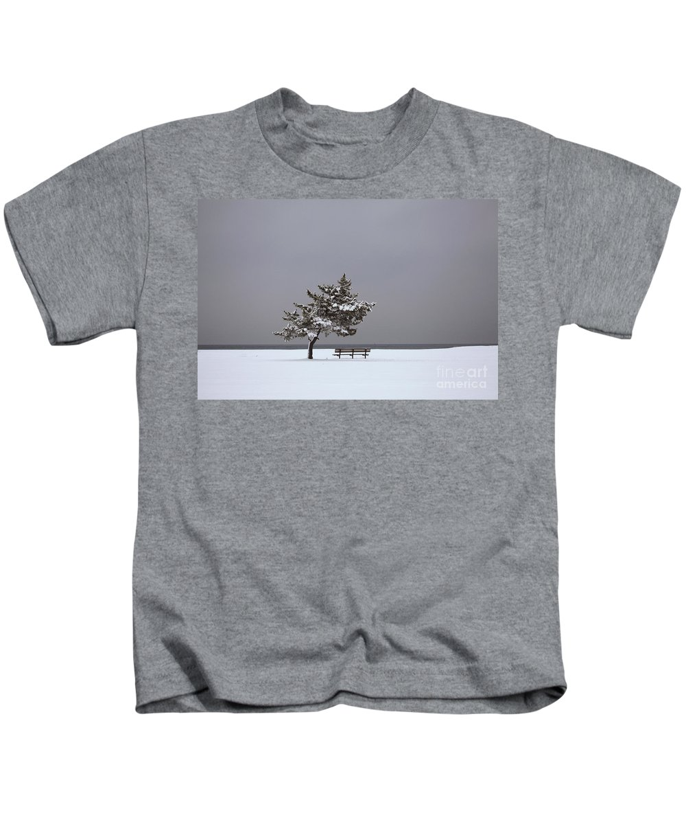 Winter Kids T-Shirt featuring the photograph Lonesome Winter by Karol Livote