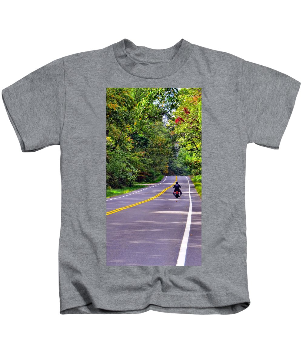 Sky Kids T-Shirt featuring the photograph Long Ride by Art Dingo