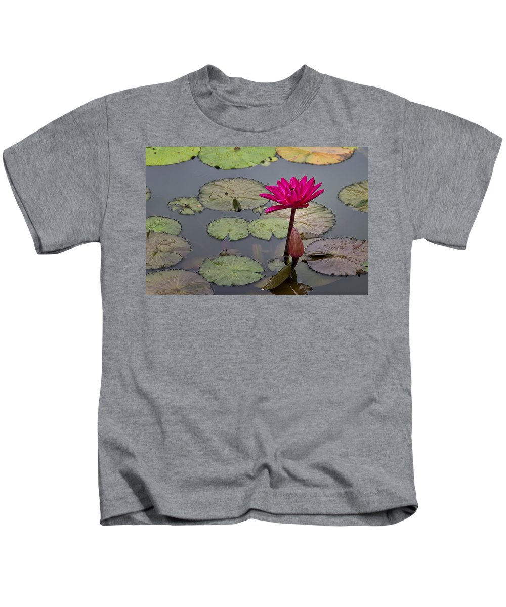 Lotus Flower Kids T-Shirt featuring the photograph Lotus Flower by Mike Herdering