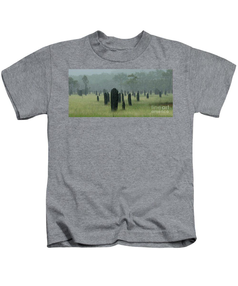 Termites Kids T-Shirt featuring the photograph Magnetic Termite Mounds by Bob Christopher