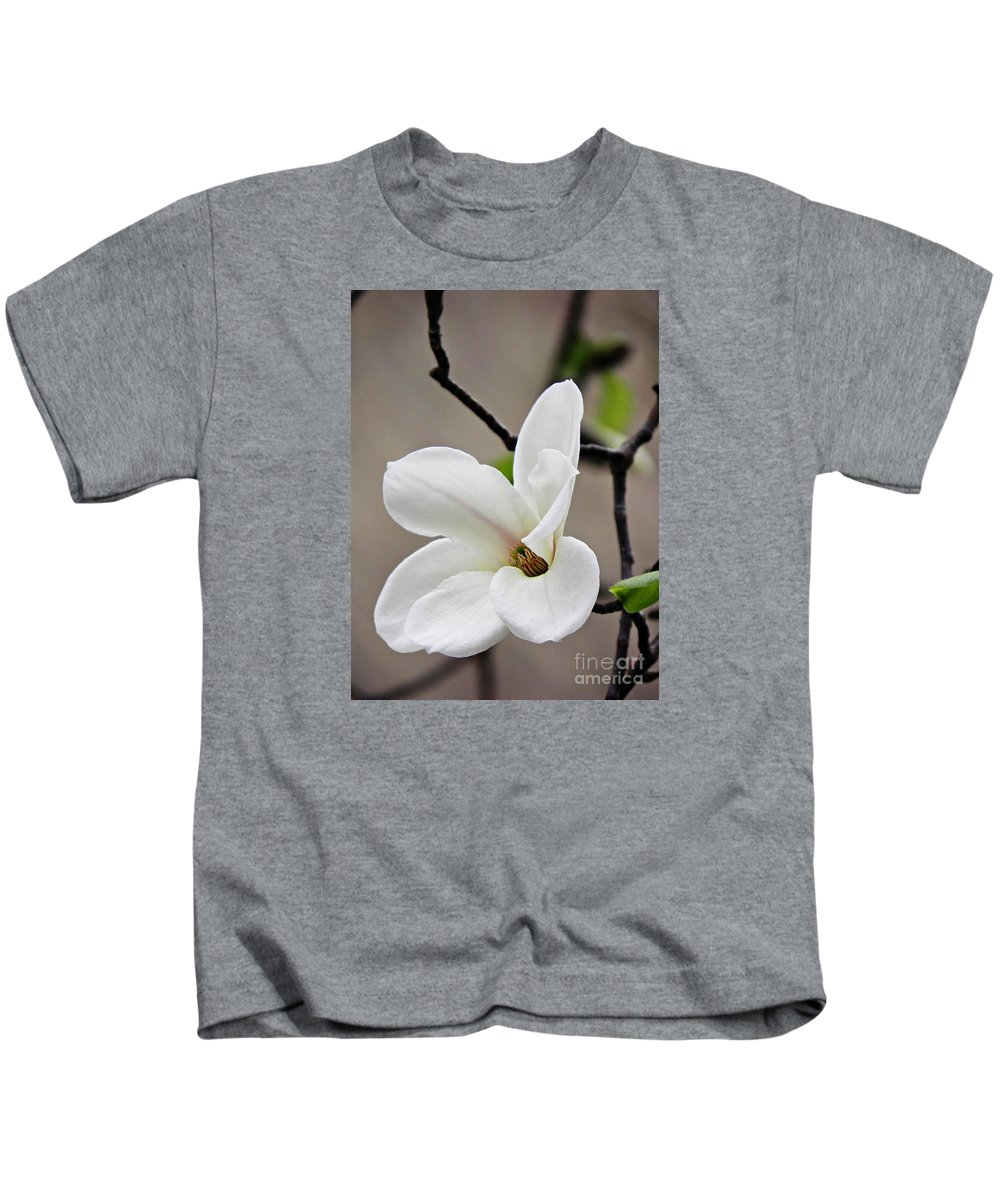 Magnolia Kids T-Shirt featuring the photograph Magnolia by Sarah Loft