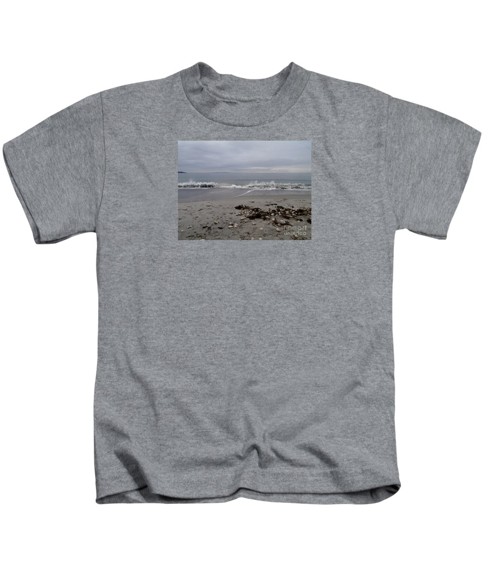 Maine Kids T-Shirt featuring the photograph Maine Coastline by Eunice Miller